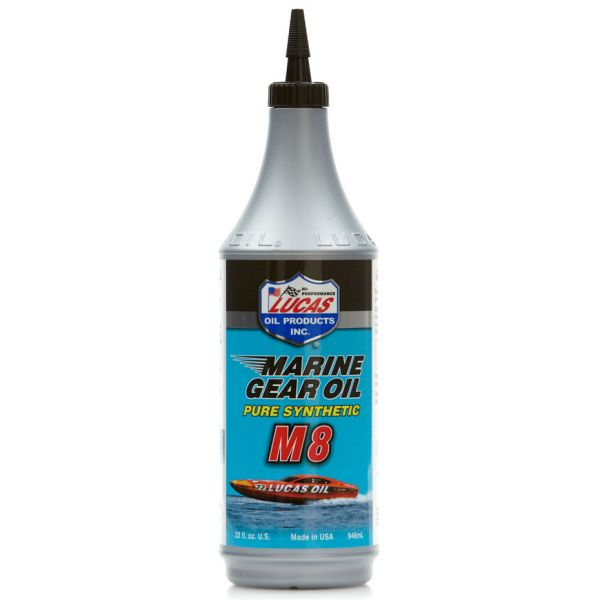 Lucas Oil Marine Gear Oil Synthetic SAE 75W90 M8 - 1 qt.