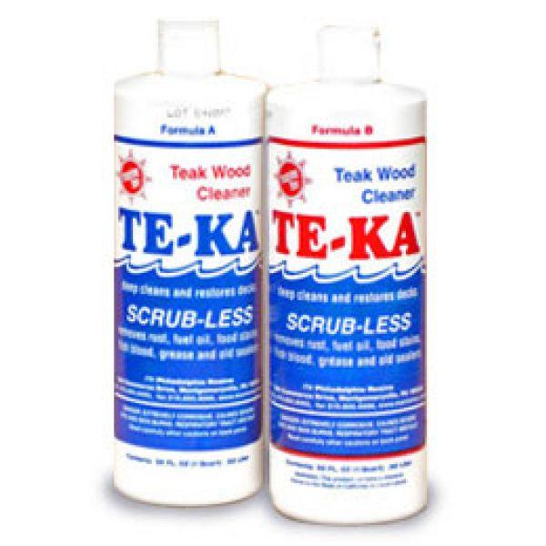 Marine-Tex 3024U TE-KA Scrubless Teak Cleaner Set - Quart
