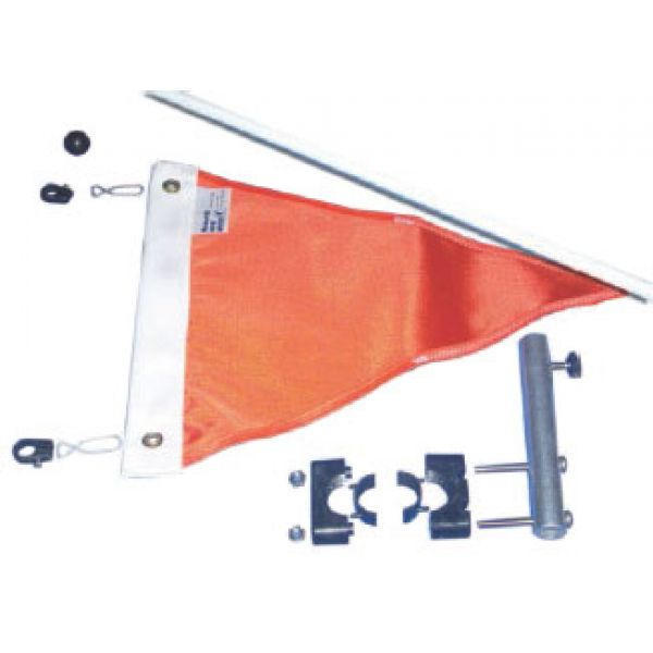 Monarch 12'' Triangular Ski Flag with Rod and Mount