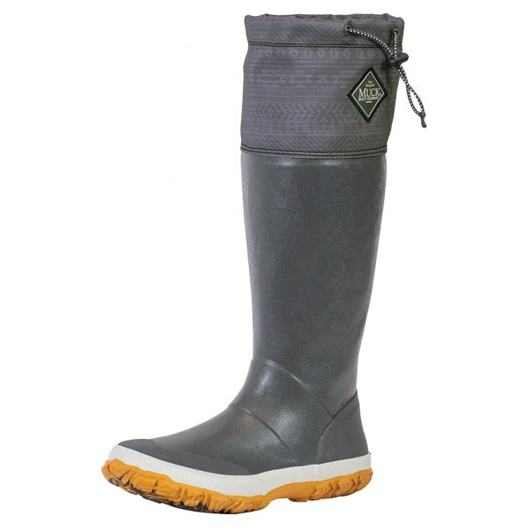 Muck Boots Forager Tall Boot - Dark Gray/Print