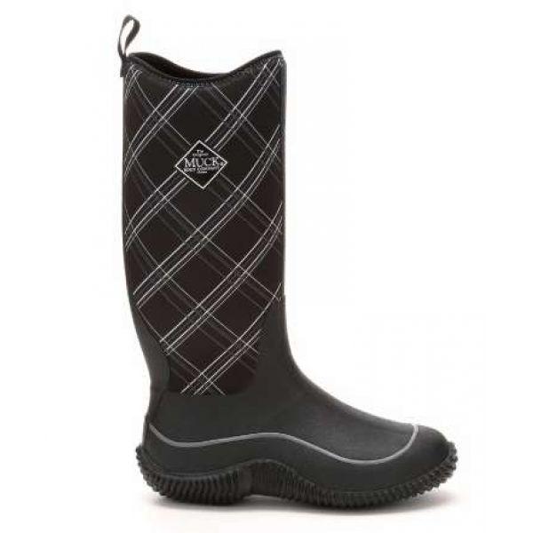 Muck Boots Women's Hale Boots Black/Gray Plaid - Size W9