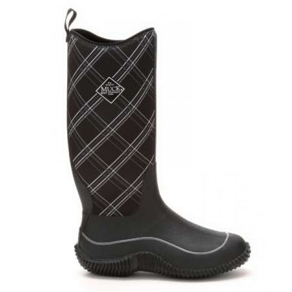 Muck Boots Women's Hale Boots Black/Gray Plaid - Size W10