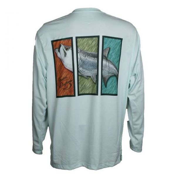 Native Outfitters Z1GRNTAR Z1 Tarpon UV50 Sun Shirt