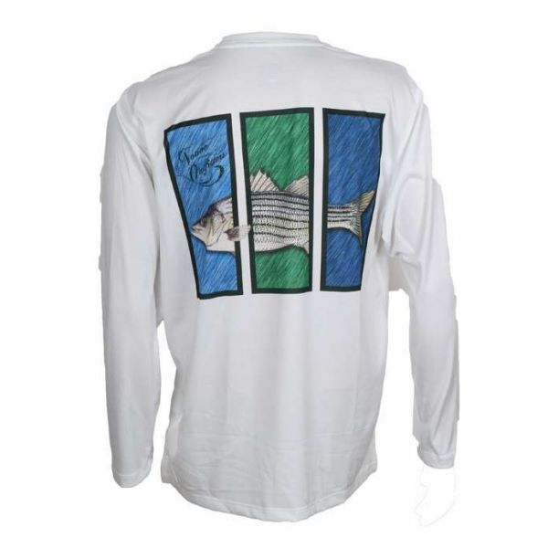 Native Outfitters Z1WHTSTR Z1 Striper UV50 Sun Shirt - X-Large