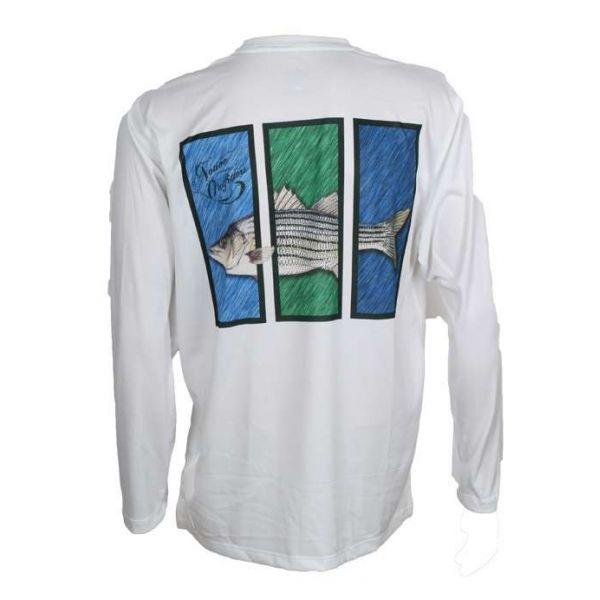 Native Outfitters Z1WHTSTR Z1 Striper UV50 Sun Shirt