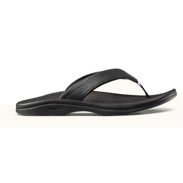 OluKai Ohana Women's Sandal - Black/Black - Size 8