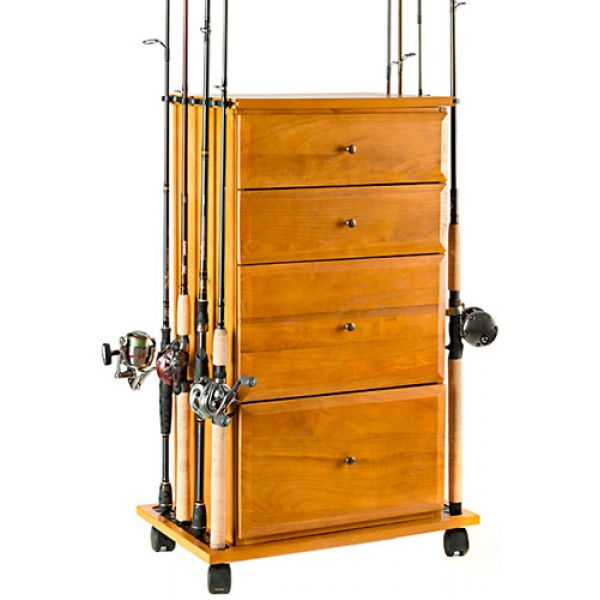 Organized Fishing FDC-004 Four Drawer Cabinet & Rod Holder