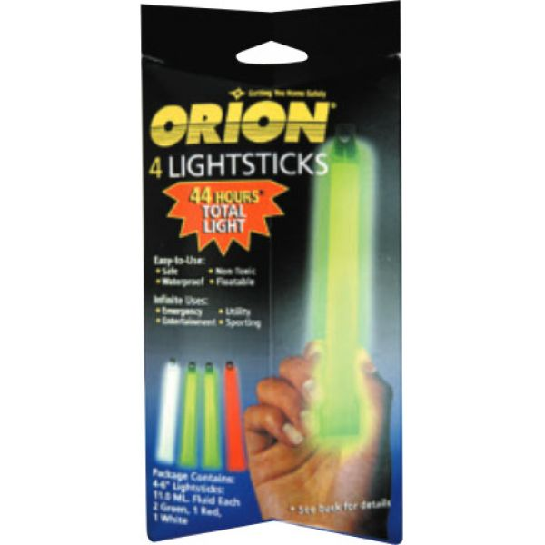 Orion Chemlight Lightsticks - 4 Pack