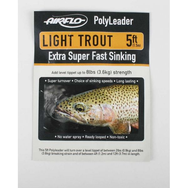 Airflo Light Trout 5ft PolyLeader Fast Sinking
