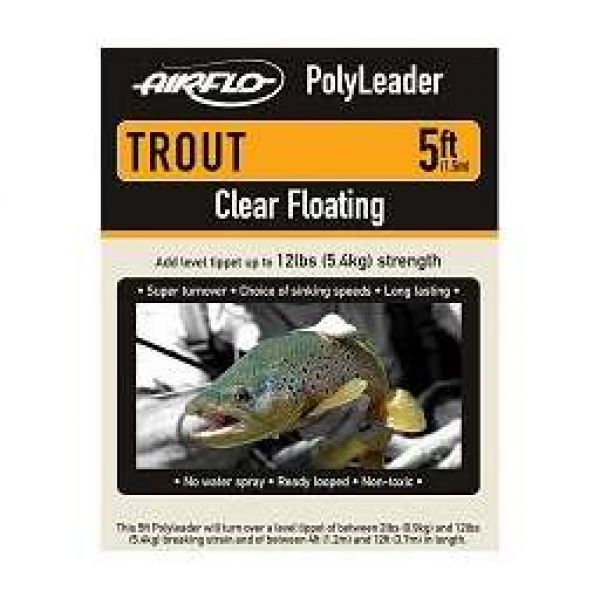 Airflo Trout 5ft PolyLeader Clear Hover