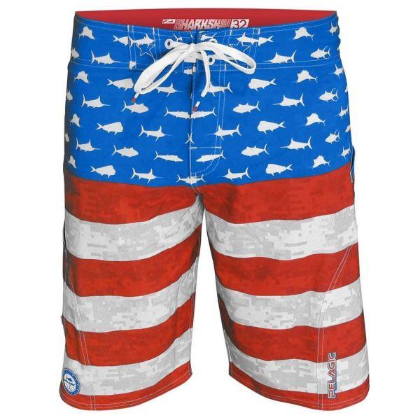 Pelagic Americamo Sharkskin Boardshorts - Size 36