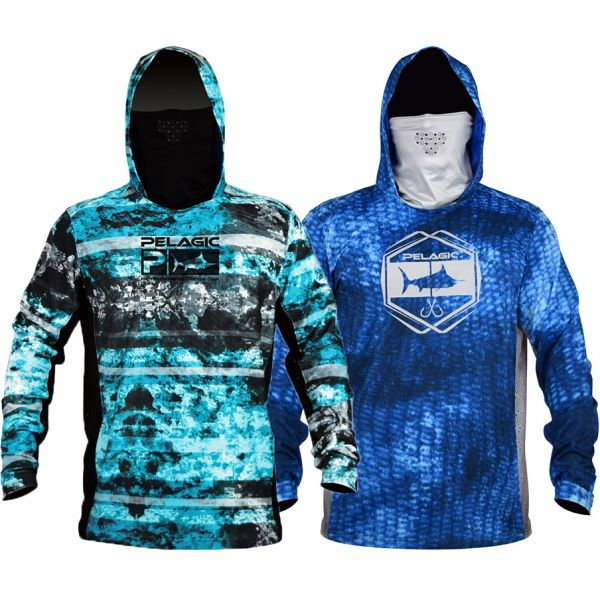 Pelagic Exo-Tech Long Sleeve Hooded Shirt w/ Face Shield