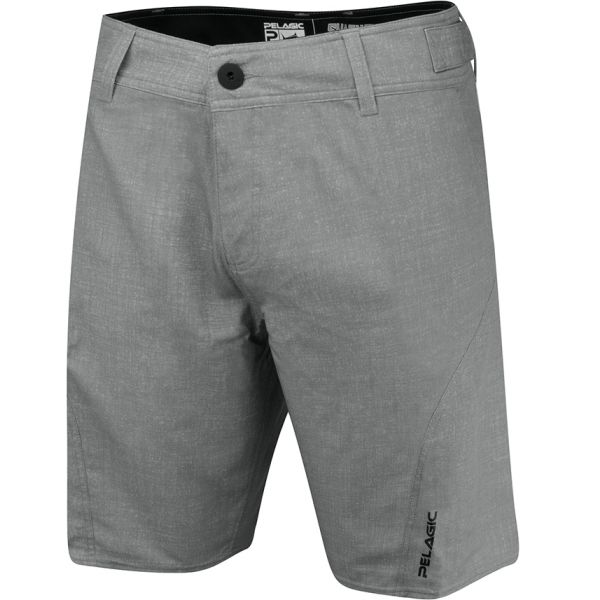Pelagic Sharkskin Pro Boardshort - Heather Grey - 32