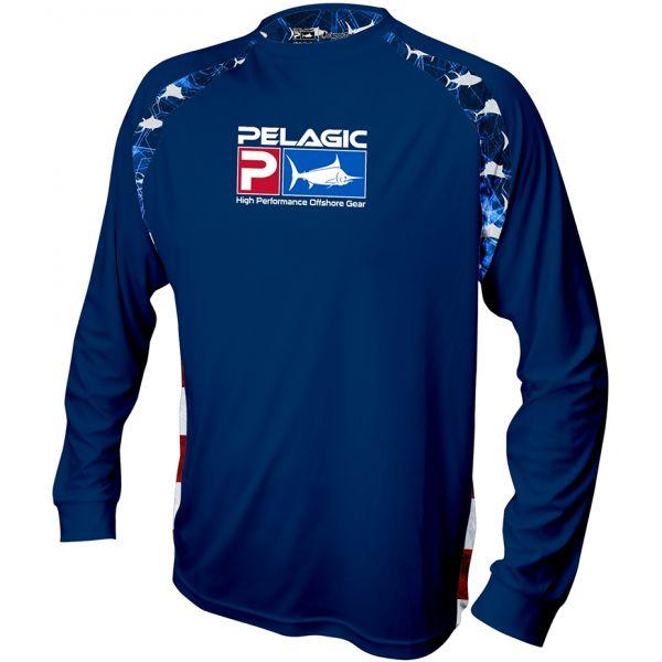 Pelagic Vaportek Sideline Americamo Long Sleeve Shirts