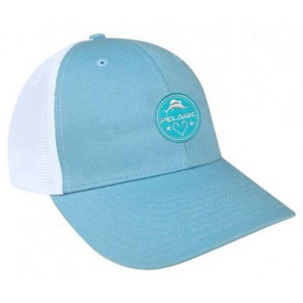 Pelagic Women's Offshore Trucker Hat - Light Blue