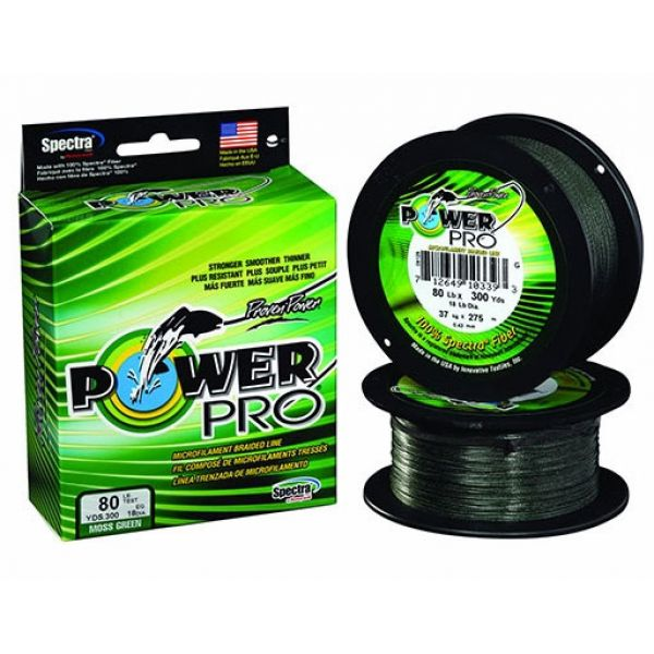 PowerPro Braided Spectra Fiber Fishing Line Moss Green 100 Yds