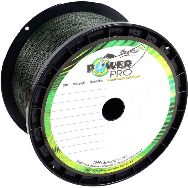 PowerPro Braided Spectra Fiber Fishing Line Moss Green 1500 Yds.