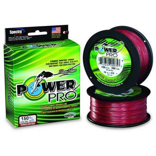 PowerPro Braided Spectra Fiber Line - Vermilion Red - 3000yds 50lb