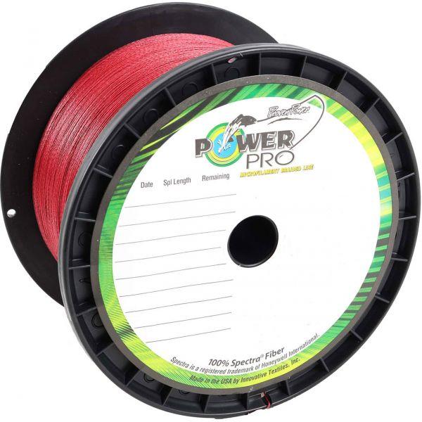 PowerPro Braided Spectra Fiber Fishing Line Vermilion Red 8LB 1500 Yds