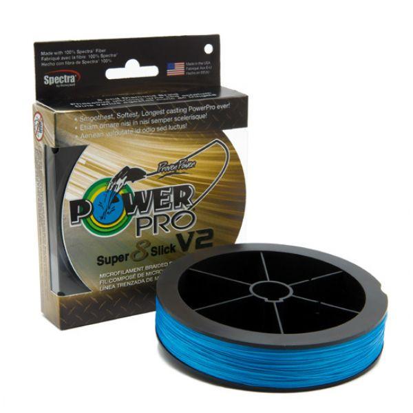 PowerPro Super Slick V2 Braided Line 65lb 1500yds - Blue