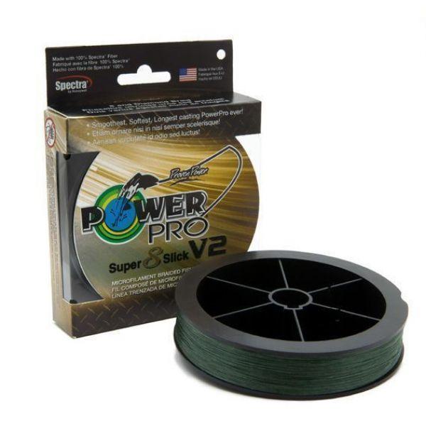 PowerPro Super Slick V2 Braided Line 65lb 1500yds - Moss Green