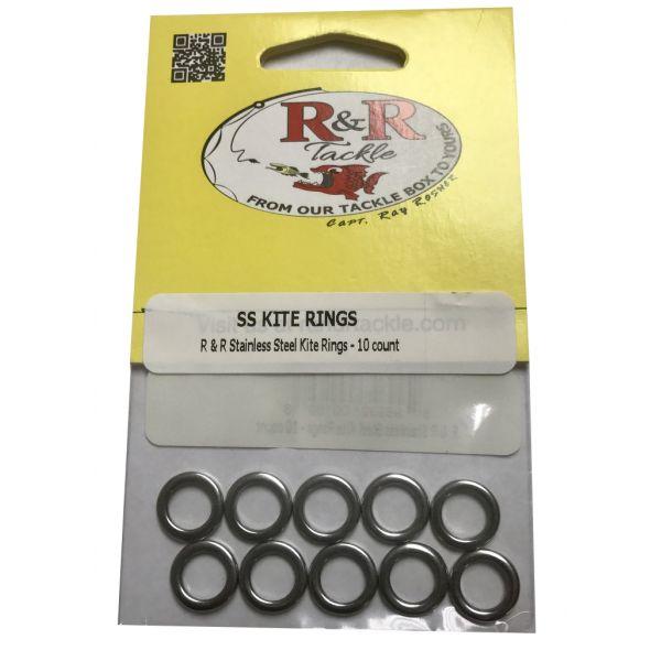 R&R KR9 Stainless Steel Kite Rings - 9 mm
