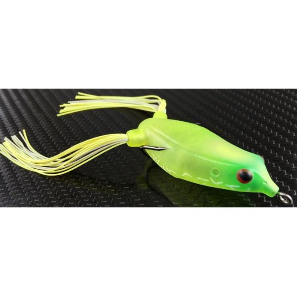 Reaction Innovations Swamp Donkey Topwater Frog Lure - Lime Chartreuse