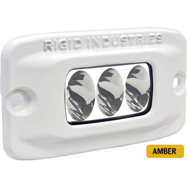 Rigid Industries 97232 Marine SR-M2 Flush Mount Driving LED Amber