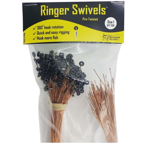 Ringer Swivels Pre-Twisted Swivels - Size 1 - 250pk