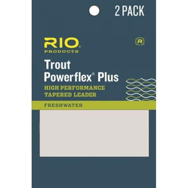 RIO 6-24412 Powerflex Plus Leader - 9ft - 3X - 2-Pack