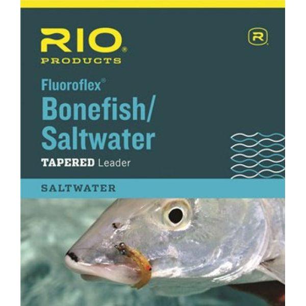 RIO 6-24514 Fluoroflex Bonefish/Saltwater Tapered Leader - 9ft - 20lb