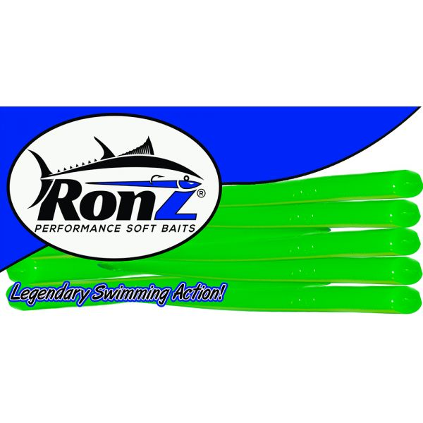 RONZ 6BT 6in Replacement Tails 10 Tails/Bag Green Glow