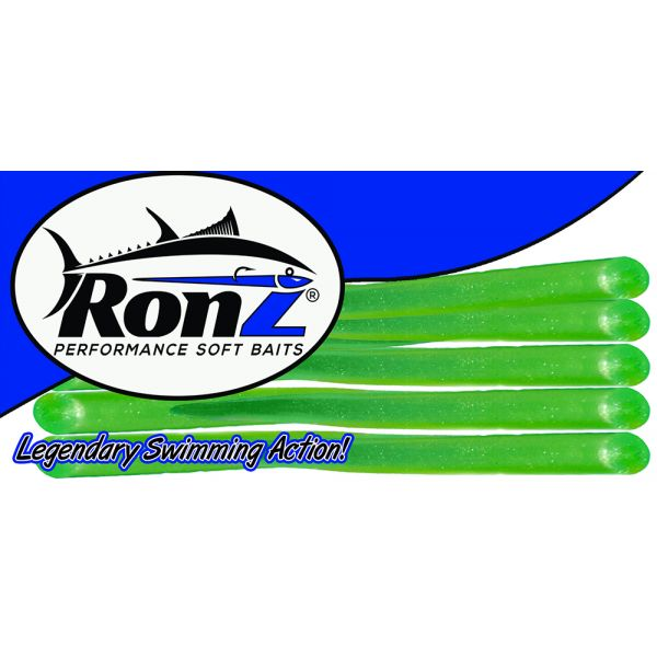 RONZ 6BT 6in Replacement Tails 10 Tails/Bag Olive Metallic