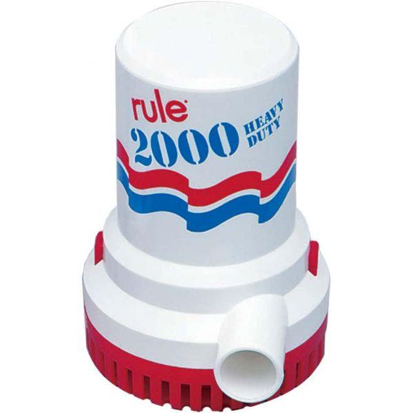 Rule 10-6UL 2000 GPH Non-Automatic Bilge Pump - 12v - UL w/ 6' Leads