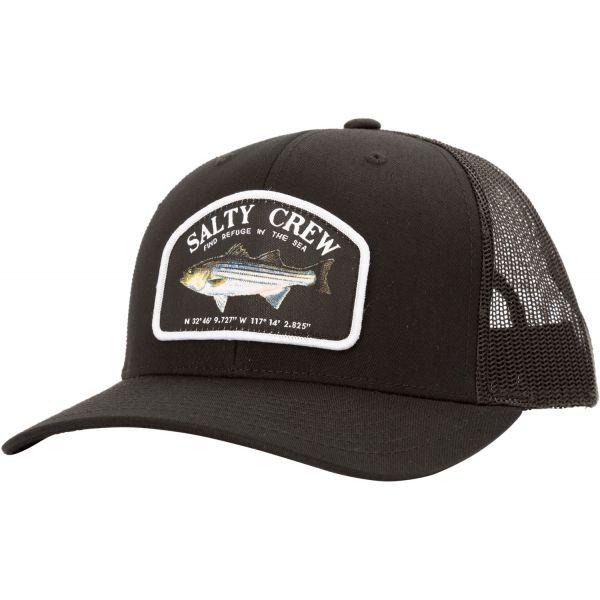 Salty Crew Striper Retro Trucker Hat - Black