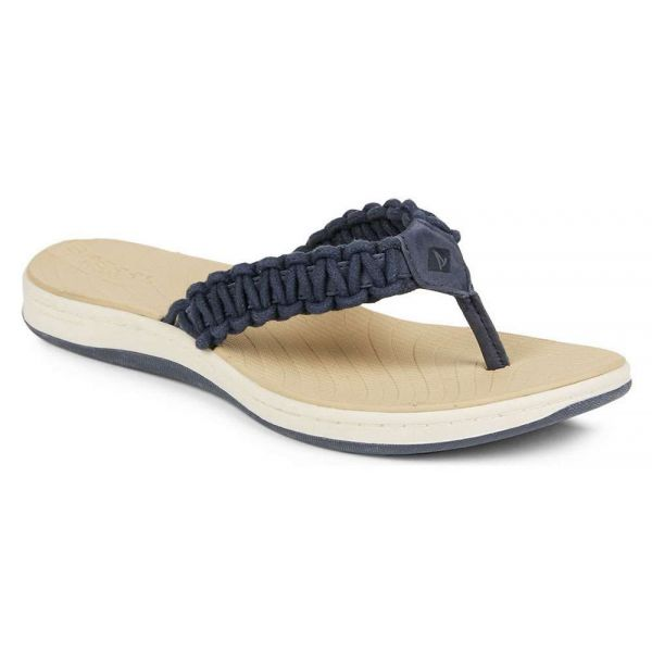 Sperry Women's Seabrook Current Thong Sandal - Navy - Size 6M