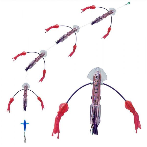 Squidnation Long Tail Flippy Floppy Rainbow Pink