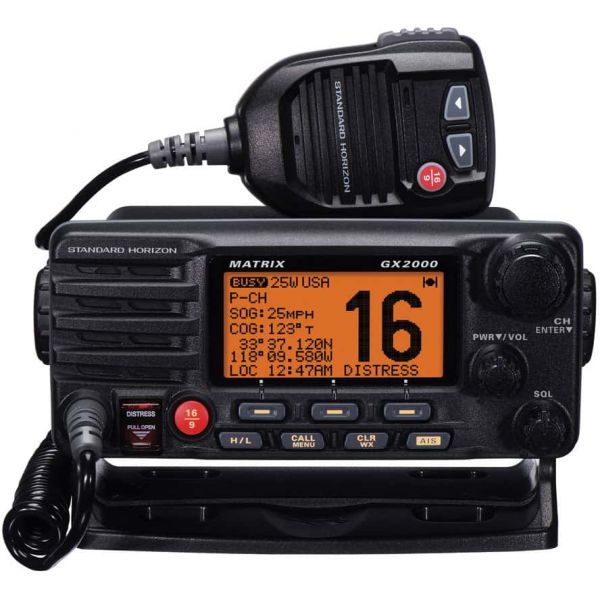 Standard Horizon GX2000 Matrix VHF w/ Optional AIS Input 30W PA - 1pk