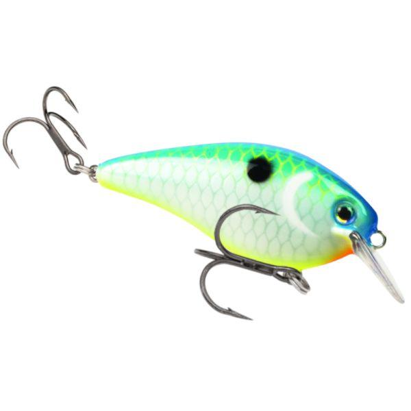 Strike King Blue Back Chartreuse KVD 1.5 Square Bill Crankbait Fishing Lure for sale online