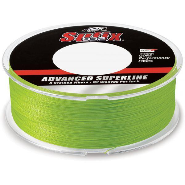 Sufix 832 Advanced Superline 660-215L Neon Lime 15lb 600yds