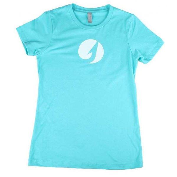 TackleDirect Hook Logo Women's T-Shirt - Tahiti Blue - Size Medium