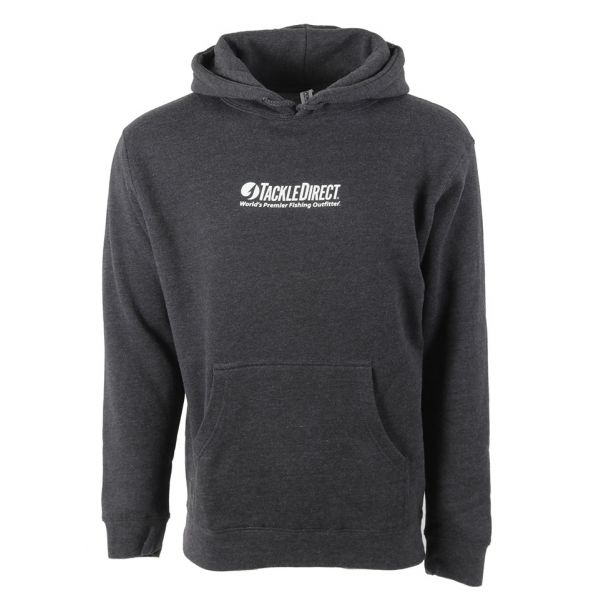 TackleDirect TDLHCH TD Logo Hoody Charcoal Heather - Size X-Large