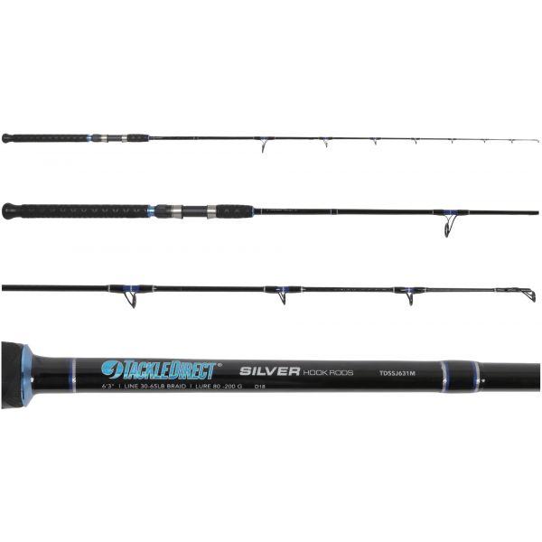 TackleDirect TDSSJ63M Silver Hook Series Spin Jigging Rod