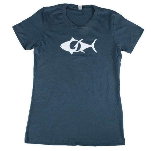 TackleDirect Tuna Logo Women's T-Shirt - Indigo - Size Small