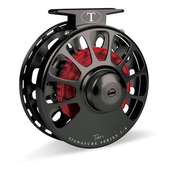 Tibor Signature Series 7-8 Fly Reel - Black w/ Red Hub