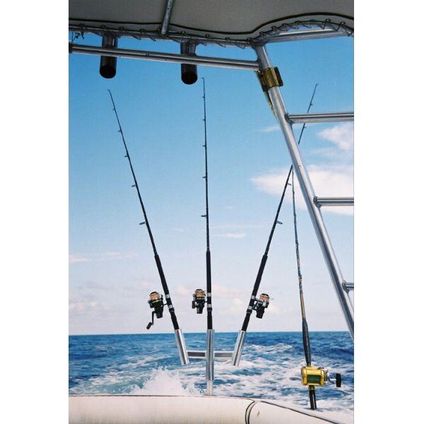 Tigress 88159 Triple Aluminum Kite Rod Holder
