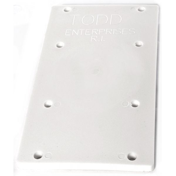 Todd 5202-P Polyethylene Mounting Plate - White Only