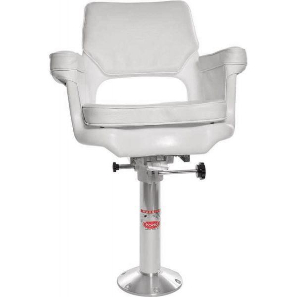 Todd 7050-15 Cape Cod Helm Seat, Cushion, Slider & Pedestal Package