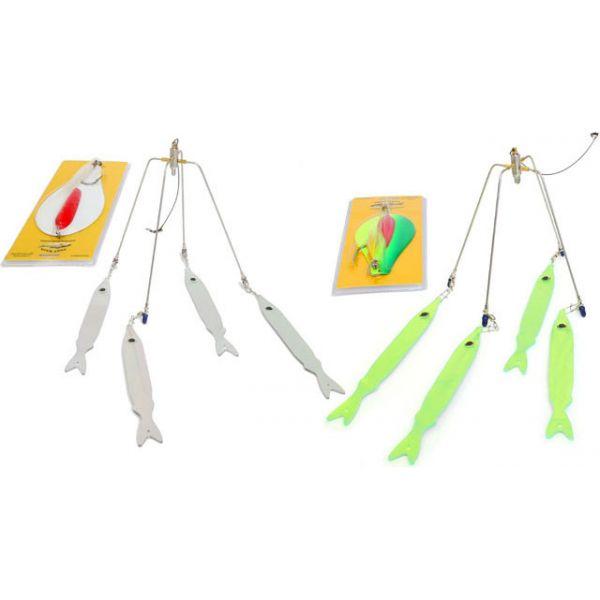 Tournament Cable Striper Umbrella Rigs w/ Stickbaits & Bunker Spoon