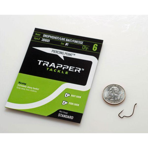 Trapper Tackle Drophshot/Live Bait/Finesse Hook - #1 (6 Pack)